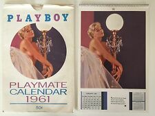 1961 ORIGINAL PLAYBOY PLAYMATE CALENDAR 1st ED PUBLISHED 1960 INCL. SLEEVE