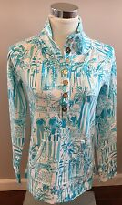 NWT Lilly Pulitzer Captain Popover Resort White La Via Loca Pullover Size S