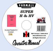 Farmall SUPER H & HV Tractor Owners Manual