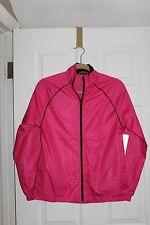 NWT Women's EVERLAST Missy Mesh Lined Track ZIPPERED Jacket SMALL PINK