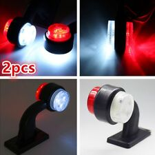 1Pair LED Truck Trailer Lorry Van Side Marker Lamp Indicator Light Red White New