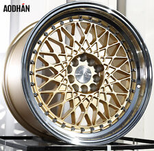 17X9 +25 AODHAN AH05 GOLD 5X114.3 WHEEL FIT RSX TSX TL CIVIC SI RX8 240SX 5X4.5