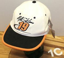 NWT NASCAR RACING SNAP-ON MIKE SKINNER HAT WHITE/BLACK & ORANGE ADJUSTABLE