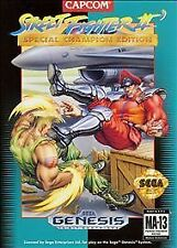 Capcom Street Fighter II Video Game Cartridge with Manual for Sega Genesis