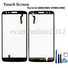 For LG G2 D800 D801 VS980 LS980 Touch Screen Digitizer Panel Replacement + Tools