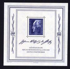 SBZ Block 6 Goethe postfrisch