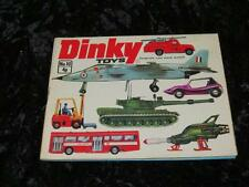 DINKY TOYS Catalogue Number 10 from 1974, Excellent Condition