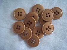 """Vintage Lot of 24 BEIGE BUTTONS 3/4"""" (19.1 MM) 4 H ~ Made in USA"""