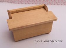 Pine Chest / Blanket Box, Doll House Miniature Furniture, 1.12th Scale
