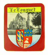 ANCIEN AUTOCOLLANT STICKER TOURISME LE TOUQUET PARIS PLAGE - PAPIER EPAIS
