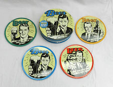 Gift Tin of Four Retro Beer Design Metal Cork Back Drink Mats / Coasters - BNIB