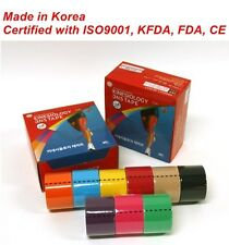 3NS Premium Kinesiology Tape Sports Muscle Care Tex 12 Rolls 9 Colors Free Gift