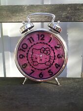 Hello Kitty Clock Wall Or Table Chrome Pink Colors Sanrio