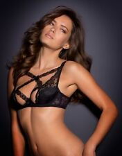 Agent Provocateur CHIKI BRA in BLACK LEAVERS LACE with SILK - Size 36D - BNWT