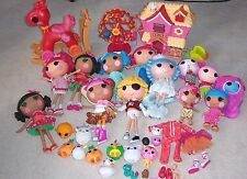 LALALOOPSY LARGE Lot 13 DOLLS FERRIS WHEEL HORSE PETS HOUSE 8 Full-Size, Clothes
