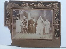 VINTAGE CABINET PHOTOGRAPH INDIAN WOMEN AND GIRLS / FROM INDIA /1930s