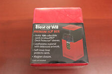Force of Will  - Premium Flip Magnetic Deck Box - Red - New / Sealed