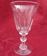 Antique Victorian Ball Knop Stem Faceted Bell Bowl Wine Glass Plain Foot c 1850