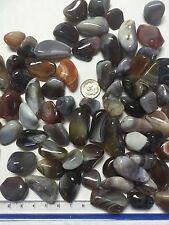 1lb Wholesale Tumbled Grey Botswana Agate Polished Stones Smaller Crystal Bulk