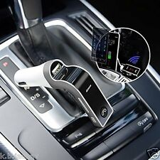 CARG7 LCD Bluetooth Car Kit MP3 FM Transmitter USB Charger Handsfree (Silver)