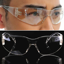 Laboratory Spectacles Safety Clear Glasses Goggles Work Eye Protective Eyewear E