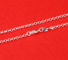 1pcs 26inch 925 Sterling Solid Silver plated Pearl Chain Necklace Fashion AA70