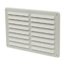 "!!NEW!! 6.5""x9.5"" Louvre Hit & Miss Air Vent Ventilator Cover White"