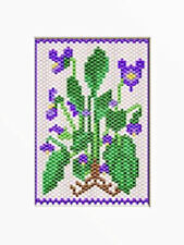 Violets~Beaded Banner Pattern Only