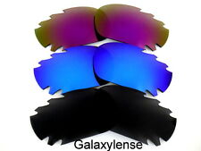 Galaxy Replacement Lenses For Oakley Jawbone Black&Blue&Purple 3Pairs