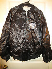 91 NFR PRCA National Rodeo Finals Las Vegas Satin Nylon Jacket Black Size XL