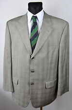BAUMLER 120'S Virgin Wool Tartan Blazer UK 46 Jacket Coat Suit Eur 56 Gr Sakko