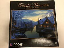 Twilight Memories Old Inn By The River Jigsaw Puzzle (1000-Piece)