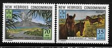 New Hebrides British 1973 Horses & Volcano MNH