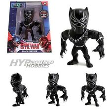 "JADA MARVEL 4"" DIE-CAST METAL CIVIL WAR BLACK PANTHER 97560"