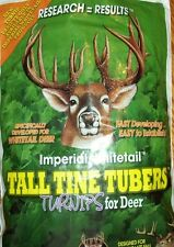 Whitetail Imperial TALL TINE TUBERS Seeds Deer Plot 1 # Turnip