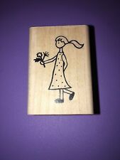 A MUSE Artstamps Amuse Rubber Stamps stamp Flower Girl