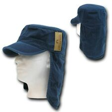 Navy Blue Foreign Legion Fishing Boating Sun Protector Cap Caps Hat Hats S/M