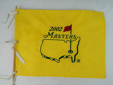 2002 Masters Embroidered Golf Pin Flag Yellow VG Cond.