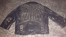 Lee Studded Real Leather Jacket XS Brought At Topshop