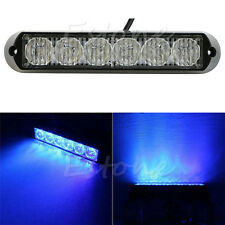 Car Truck Emergency Beacon Blue 6 LED DRL Lamp Light Bar Hazard Strobe Warning