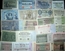 Germany Collection Old Banknotes Vintage Paper Money Empire Inflation Bulk Lot
