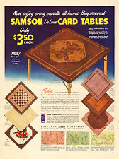 1942 WW2 era AD Samson De Luxe Card Tables (before TV we played cards!)  021717