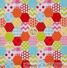 BonEful Fabric Cotton Flannel Rainbow White Stripe Dot Chevron Calico Baby SCRAP
