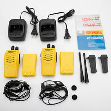 2 x Baofeng BF-888S UHF 400-470 MHz Two-way Ham Radio Walkie Talkie Yellow