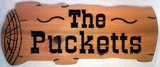 Custom Carved Cedar Wood Sign / Address Plaque, LOG shaped 7  x 18 size