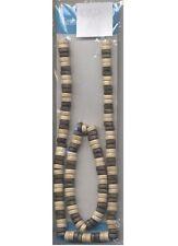 1 Bracelet et 1 collier perles en bois 2 brunes 2 ivoire [11055 2b2i] bijoux été