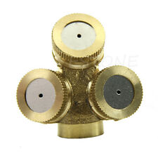 1x Adjustable Brass Spray Misting Nozzle Gardening Sprinklers Irrigation 3 Holes