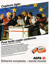 PUBLICITE ADVERTISING 054  1989  AGFA  AGFACOLOR MAXI XRG 100 copieur