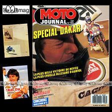 MOTO JOURNAL N°782 HVA HUSQVARNA 500 STEPHANE PETERHANSEL ★ PARIS-DAKAR 1987 ★