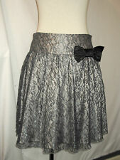 LADIE'S *RIVER ISLAND* LACE SKIRT, GREY/SILVER. SIZE 10. MINT CONDITION.